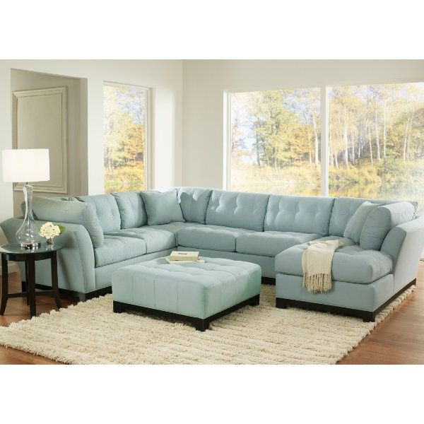Best ideas about Light Blue Leather Sofa . Save or Pin Unique Blue Sectional Sofa 4 Light Blue Suede Sectional Now.