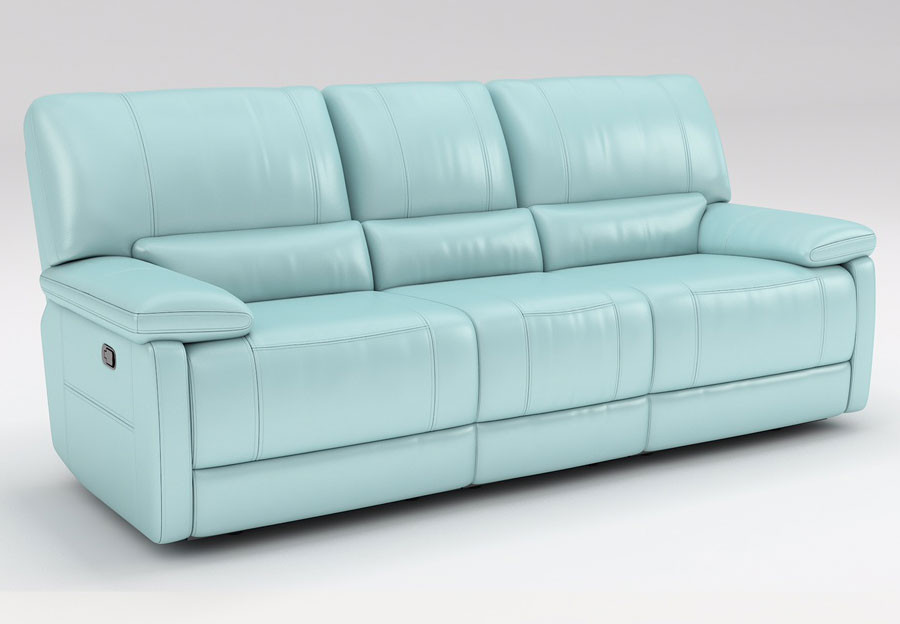 Best ideas about Light Blue Leather Sofa . Save or Pin Kuka Maui Light Blue Reclining Sofa and Reclining Console Now.