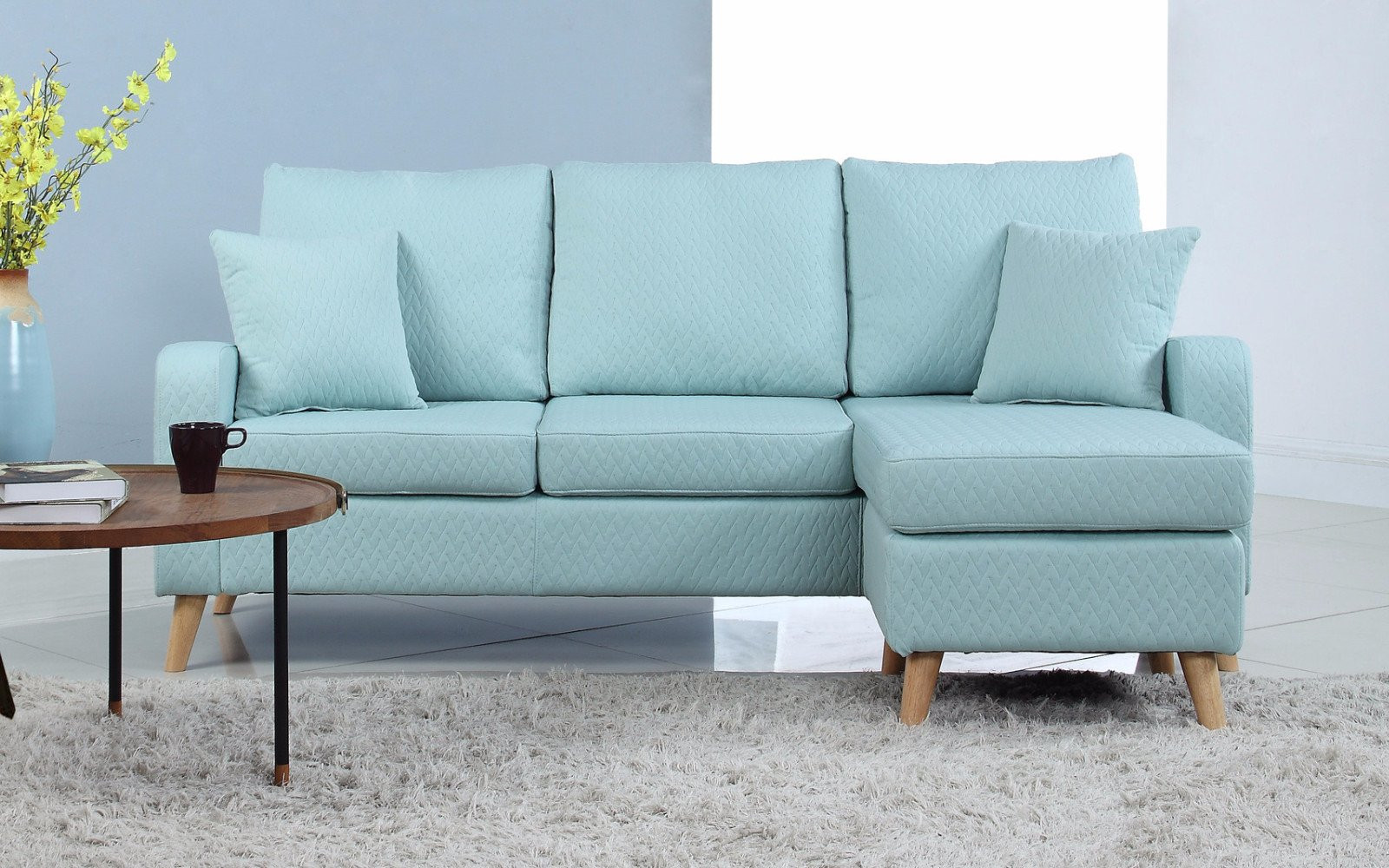 Best ideas about Light Blue Leather Sofa . Save or Pin Sectional Sofas Leather Sectionals Now.