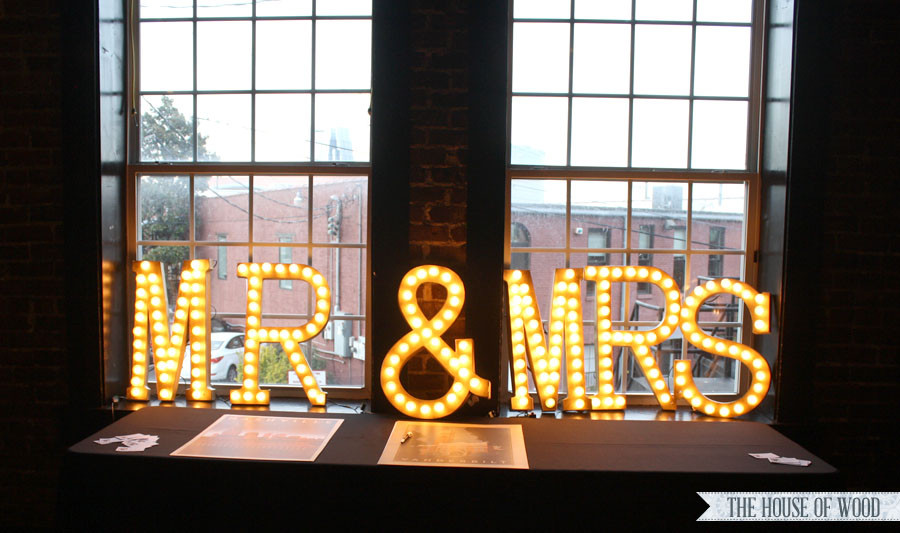 Best ideas about Light Up Letters DIY . Save or Pin DIY Light Up Wedding Marquee Now.