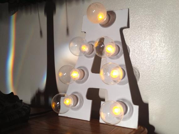 Best ideas about Light Up Letters DIY . Save or Pin DIY Marquee Light Up Letter Kit by ThreePaperLanterns Now.