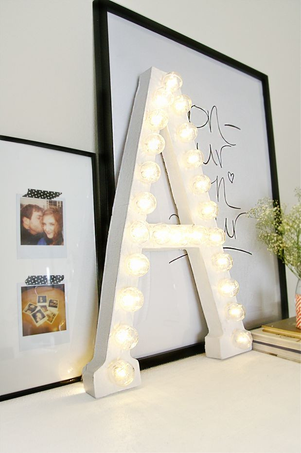 Best ideas about Light Up Letters DIY . Save or Pin How To Light Up A Room s Décor With Marquee Letters Now.