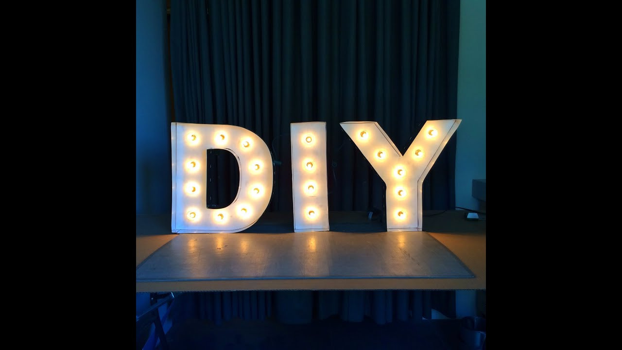Best ideas about Light Up Letters DIY . Save or Pin DIY Letter Lights Now.