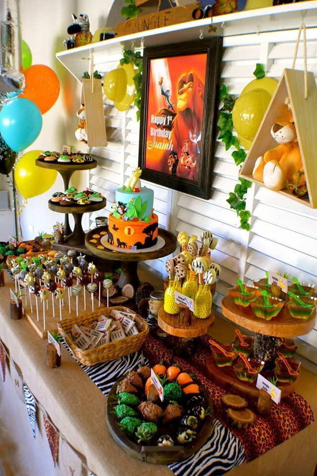 Best ideas about Lion King Birthday Decorations . Save or Pin Disney Lion King First Birthday – Little Wish Parties Now.