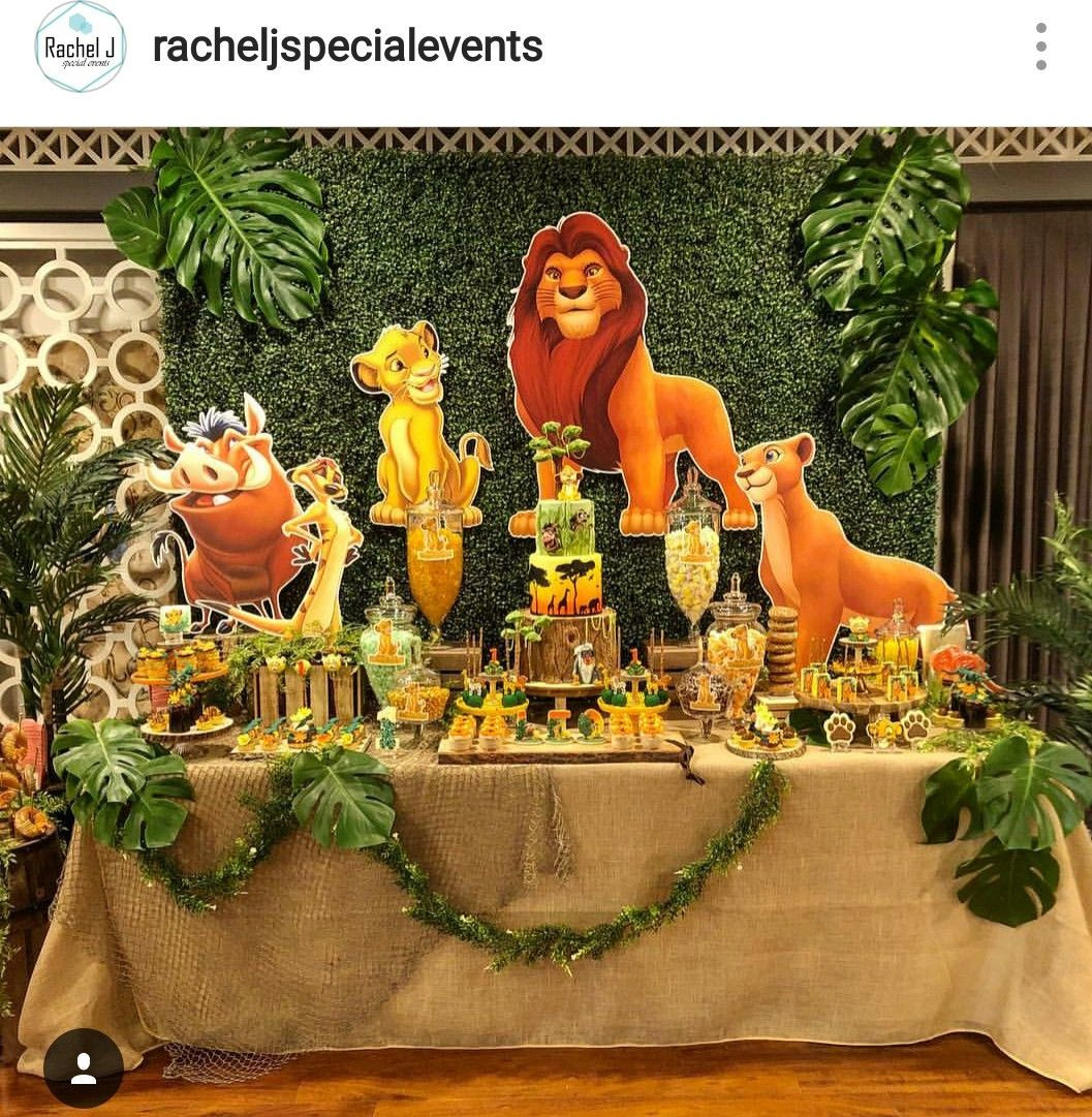 Best ideas about Lion King Birthday Decorations . Save or Pin Lion king Theme Birthday Party Dessert Table and Decor Now.