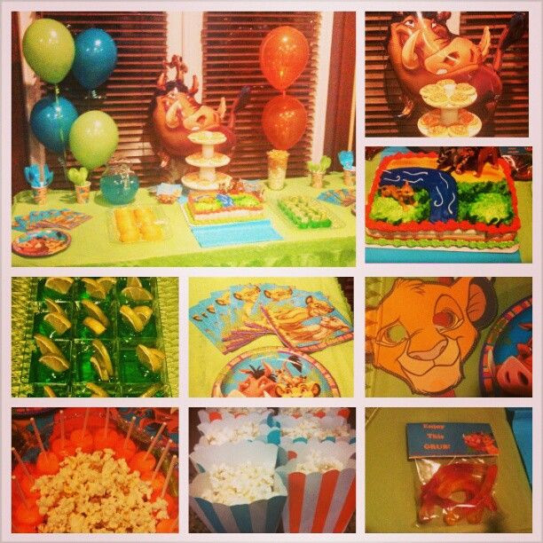 Best ideas about Lion King Birthday Party . Save or Pin Lion King Birthday Party decor decorations event Now.
