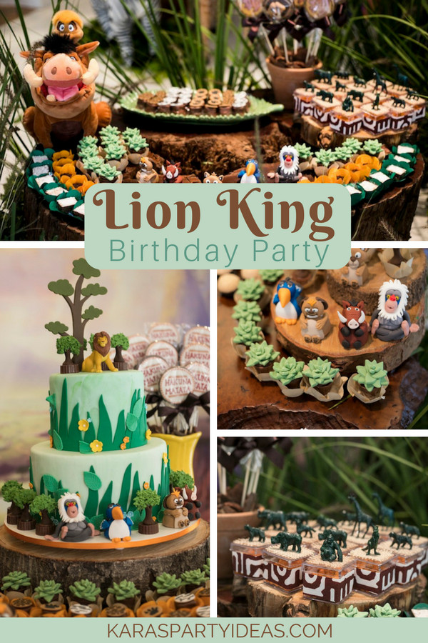Best ideas about Lion King Birthday Party . Save or Pin Kara s Party Ideas Lion King Birthday Party Now.