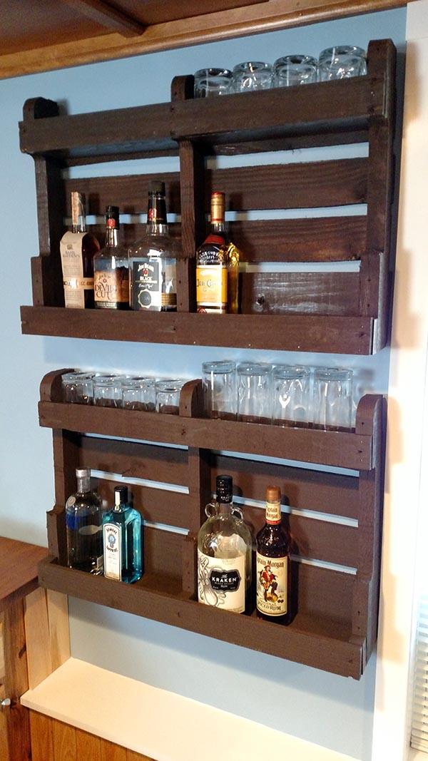 Best ideas about Liquor Cabinet DIY . Save or Pin DIY Pallet Wood Liquor Cabinet Home Construction Improvement Now.