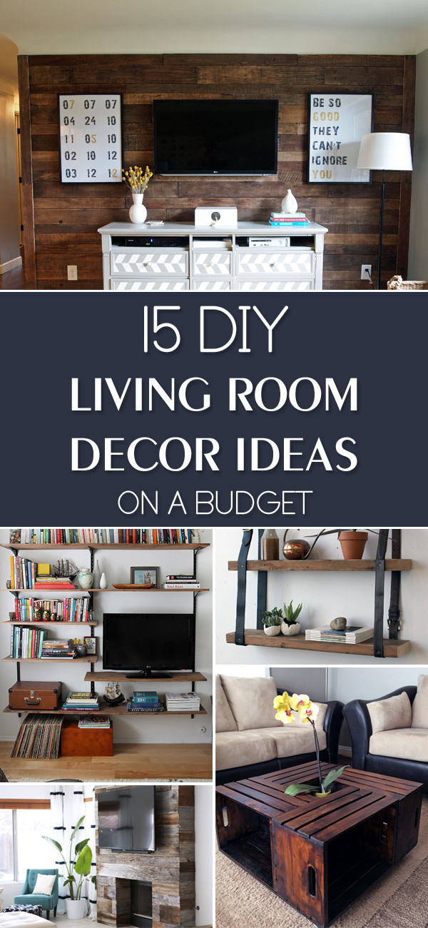 Best ideas about Living Room Decorations DIY . Save or Pin 16 DIY Living Room Decor Ideas A Bud My Decor Now.