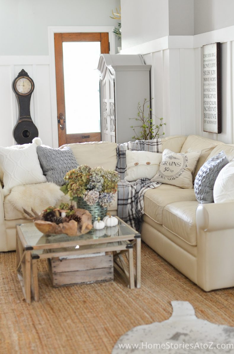 Best ideas about Living Room Decorations DIY . Save or Pin DIY Home Decor Fall Home Tour Now.