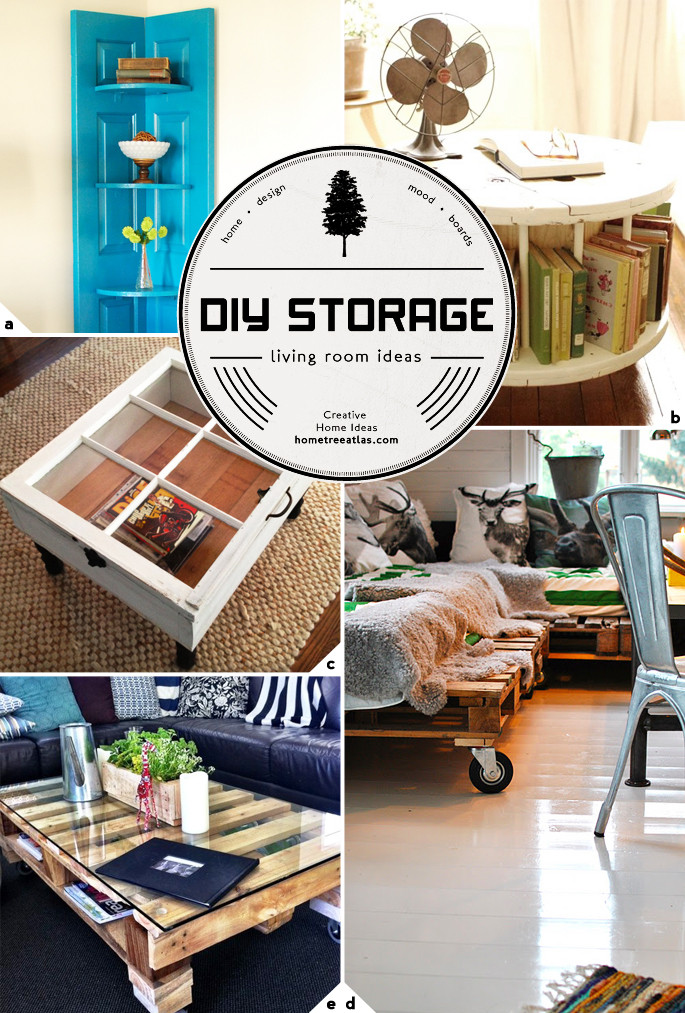 Best ideas about Living Room Decorations DIY . Save or Pin Creative Living Room Storage Ideas Now.