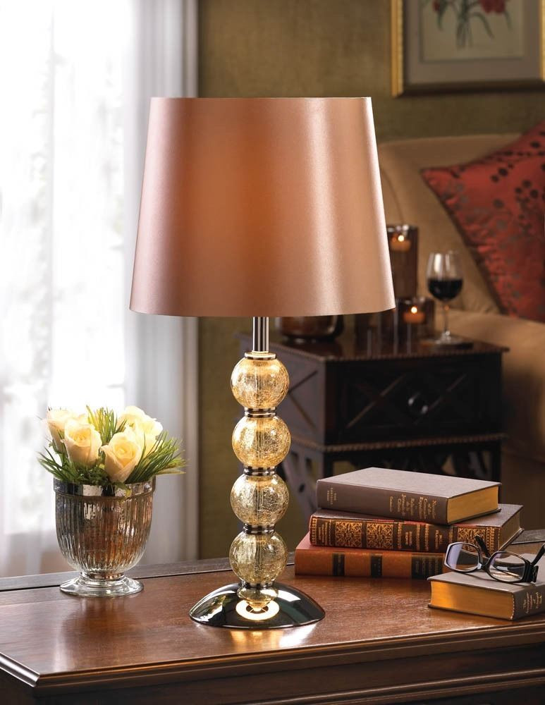 Best ideas about Living Room Lamps . Save or Pin Crackled Glass Lamp Table Light Shade Traditional Living Now.
