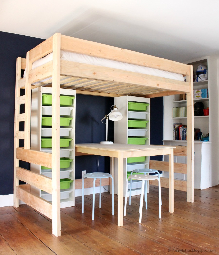 Best ideas about Lofted Bed DIY . Save or Pin DIY Loft Bed with Desk and Storage Now.
