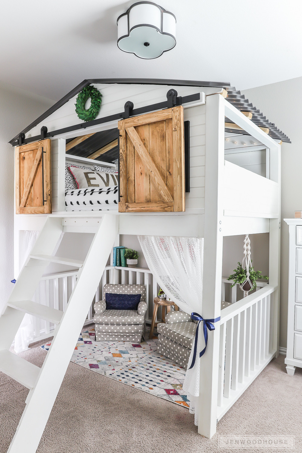 Best ideas about Lofted Bed DIY . Save or Pin How To Build A DIY Sliding Barn Door Loft Bed Full Size Now.