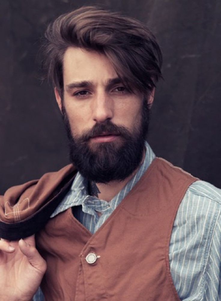 Best ideas about Longish Mens Hairstyles . Save or Pin Undercut Men Hairstyle With Beard Now.
