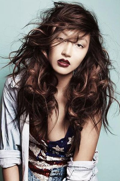 Best ideas about Lots More Female Hairstyles . Save or Pin y and Messy Long hairdo with lots of layers Now.