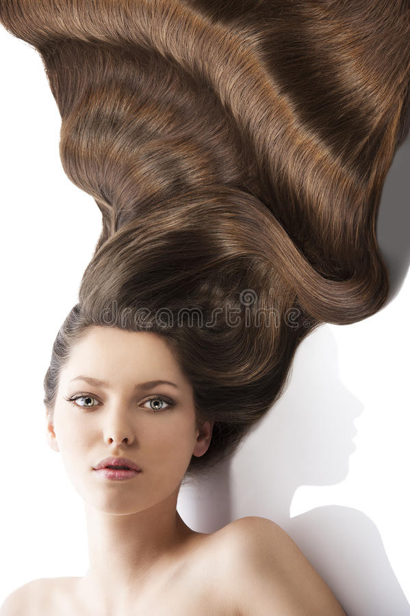Best ideas about Lots More Female Hairstyles . Save or Pin Beauty Young Girl Hairstyle and A Lot Hair Stock Now.