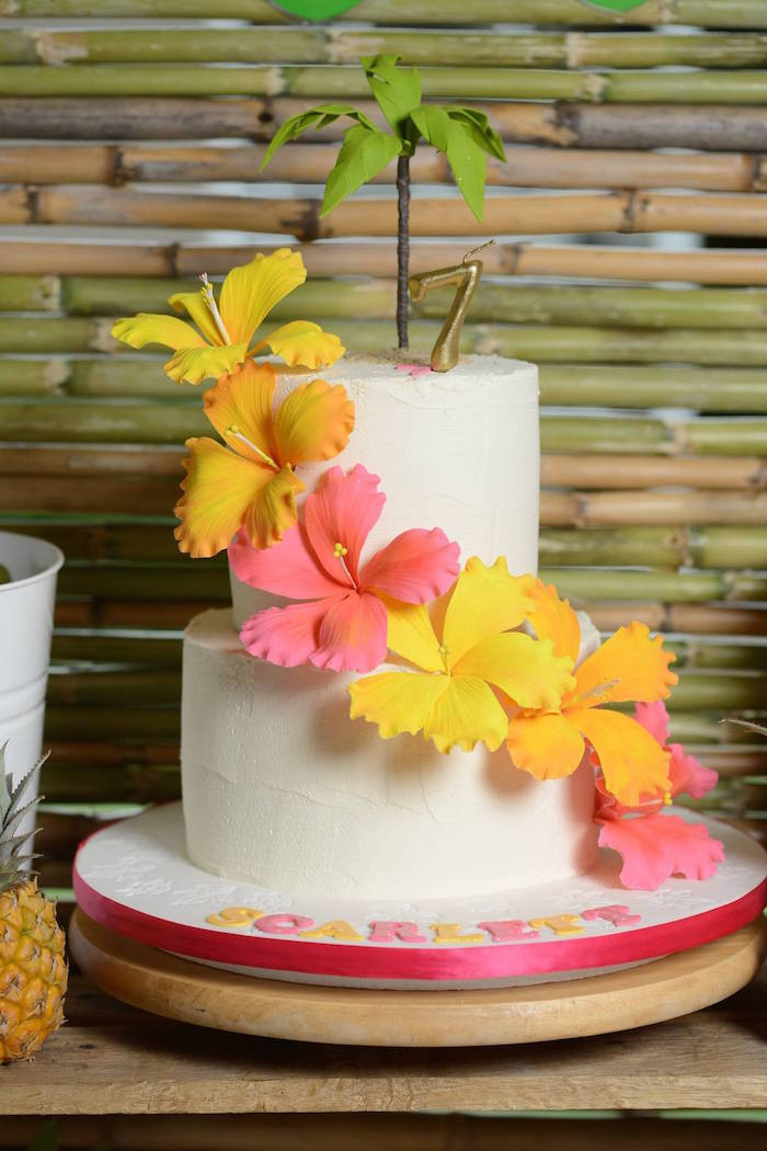 Best ideas about Luau Birthday Party Ideas . Save or Pin Kara s Party Ideas Hawaiian Luau Themed Birthday Party Now.