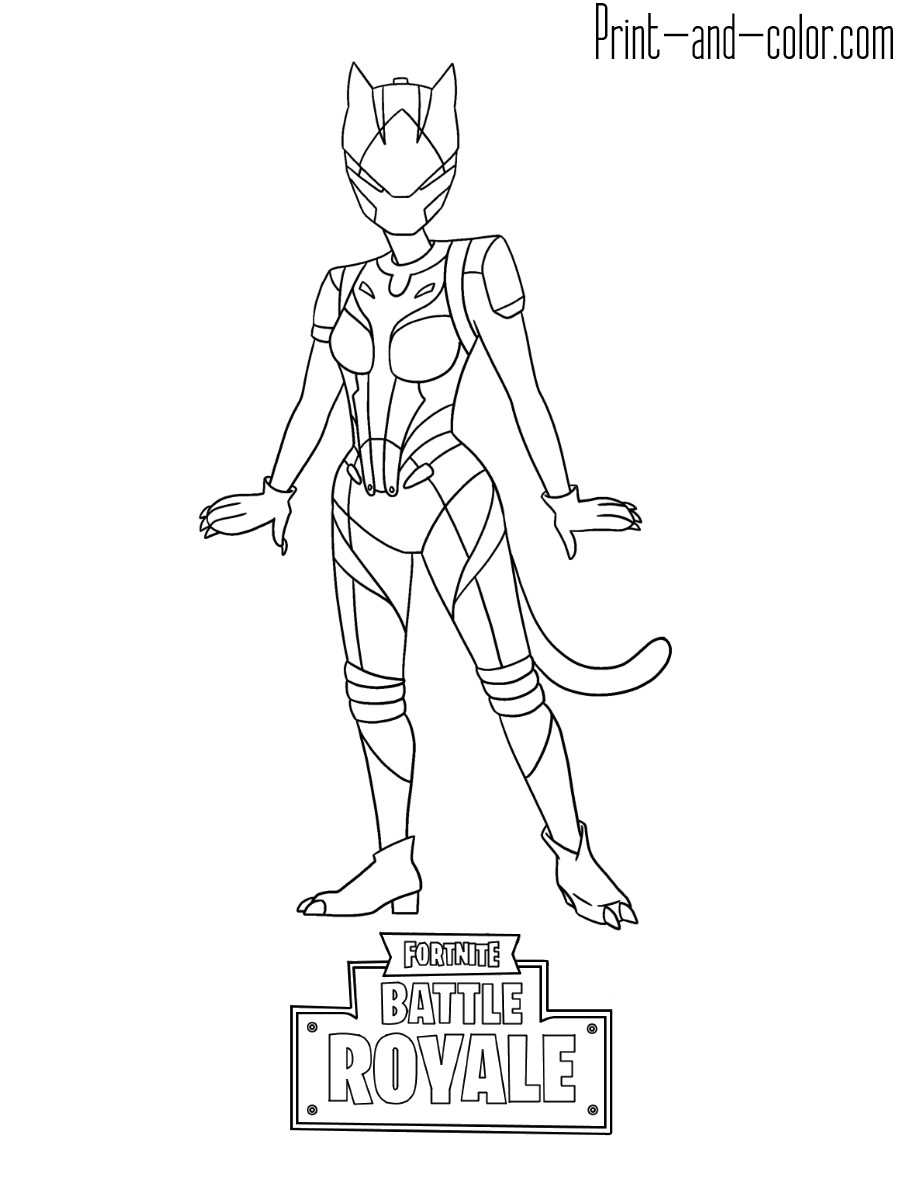 Best ideas about Lynx Coloring Sheets For Girls . Save or Pin Fortnite coloring pages Now.