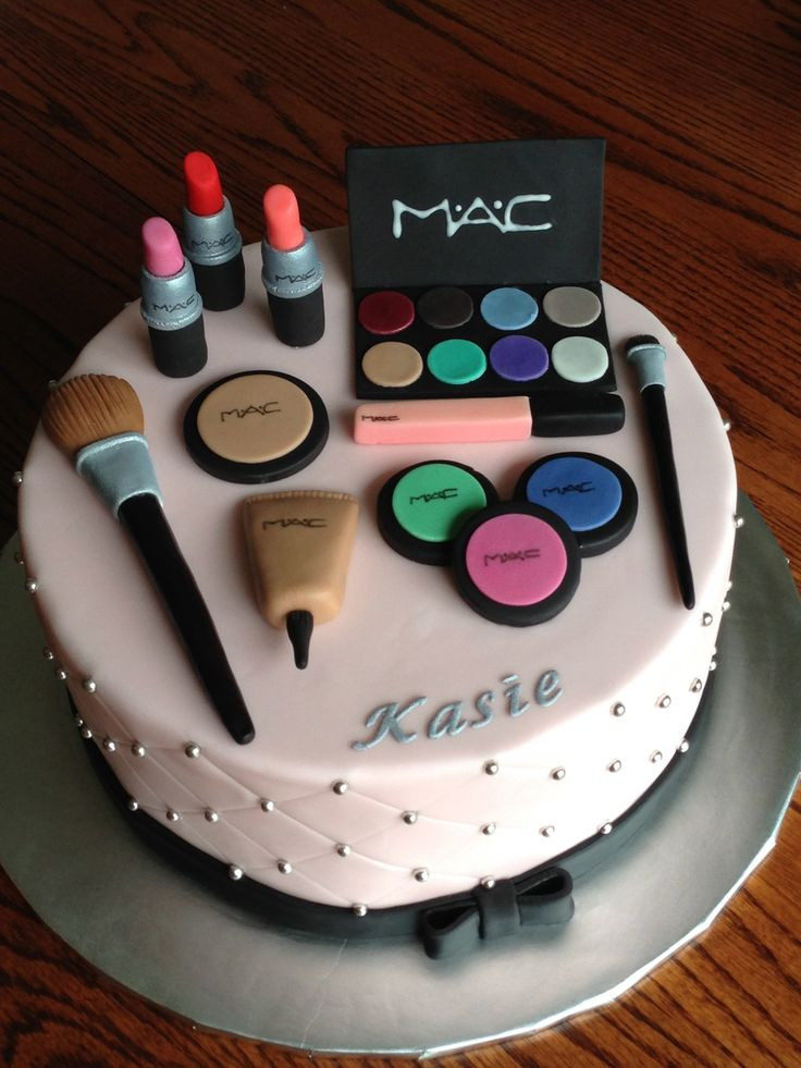 Best ideas about Makeup Birthday Cake . Save or Pin 25 best ideas about Makeup cakes on Pinterest Now.