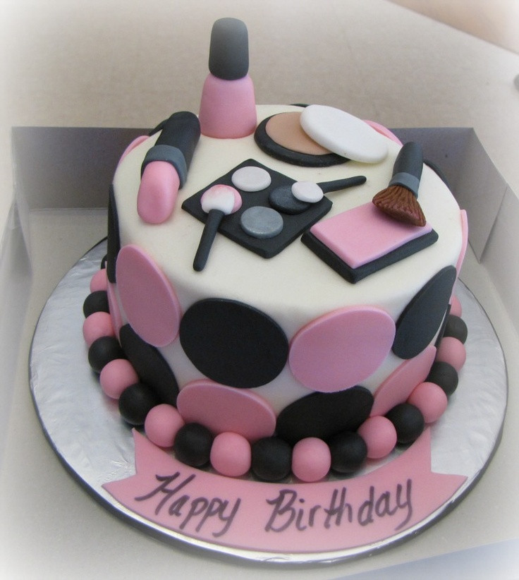 Best ideas about Makeup Birthday Cake . Save or Pin 1000 ideas about Makeup Cakes on Pinterest Now.