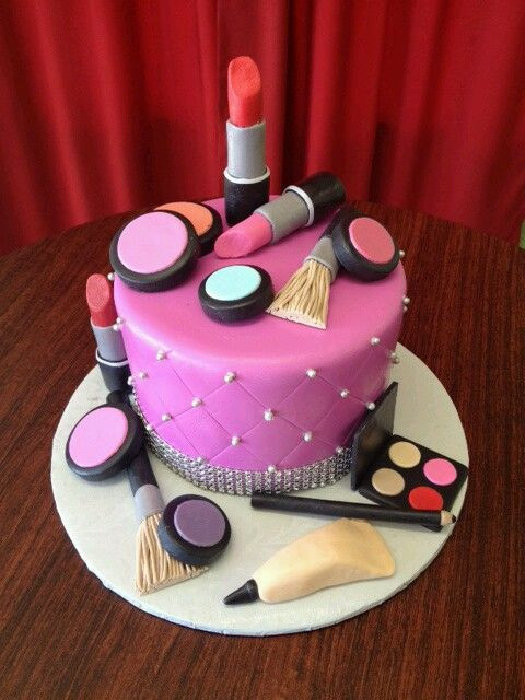 Best ideas about Makeup Birthday Cake . Save or Pin Makeup cake My creations Pinterest Now.