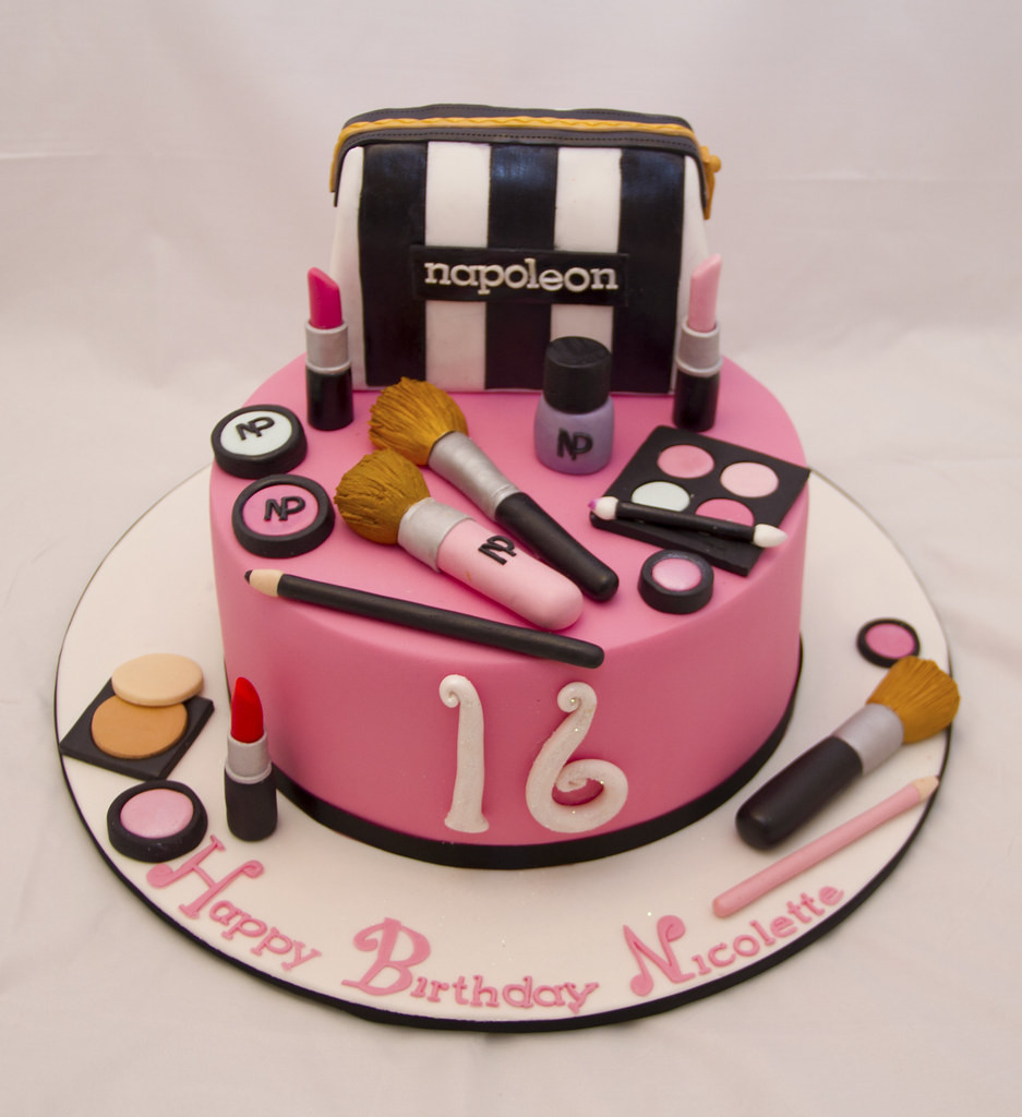 Best ideas about Makeup Birthday Cake . Save or Pin Makeup cake koulacakecreations Now.