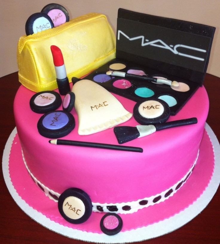 Best ideas about Makeup Birthday Cake . Save or Pin Another cute Makeup Birthday cake Now.