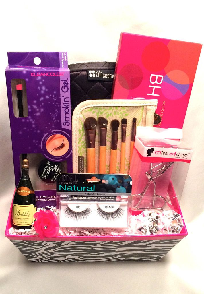 Best ideas about Makeup Gift Baskets Ideas . Save or Pin 14 best Make up t basket images on Pinterest Now.