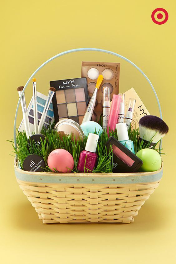 Best ideas about Makeup Gift Baskets Ideas . Save or Pin Adult Easter Basket Ideas Now.
