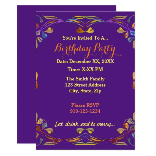 Best ideas about Making Your Own Birthday Invitations Free . Save or Pin Create Your Own Colorful Birthday Party Invitation Now.