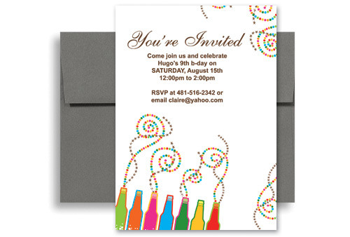 Best ideas about Making Your Own Birthday Invitations Free . Save or Pin Create Your Own Printable Birthday Invitation 5x7 in Now.