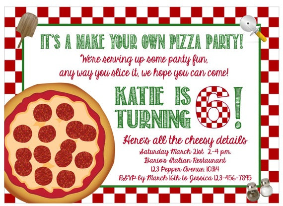 Best ideas about Making Your Own Birthday Invitations Free . Save or Pin Print at Home Make Your Own Pizza Party Now.