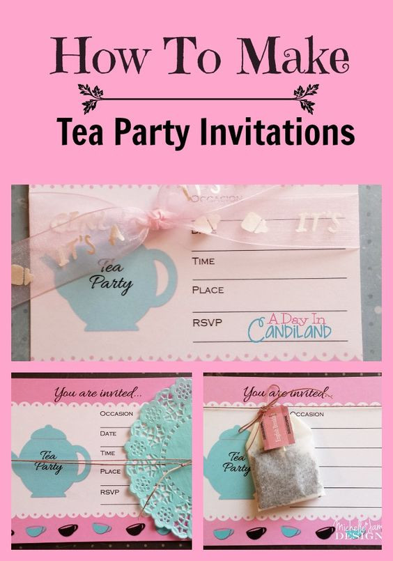 Best ideas about Making Your Own Birthday Invitations Free . Save or Pin Paper bags Days in and Tea parties on Pinterest Now.