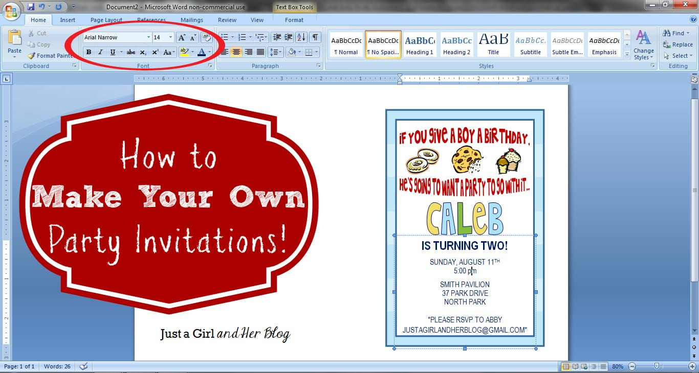 Best ideas about Making Your Own Birthday Invitations Free . Save or Pin How to Make Your Own Party Invitations Just a Girl and Now.