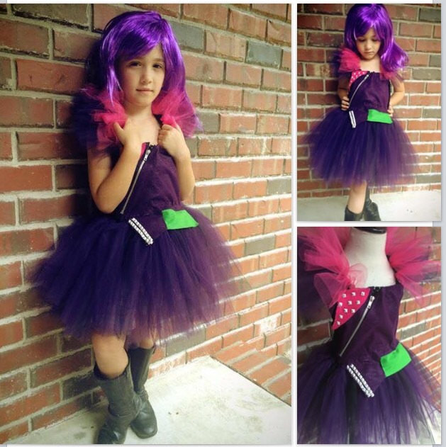 Best ideas about Mal Descendants Costume DIY . Save or Pin Mal costume descendents disney tutu dress by Now.