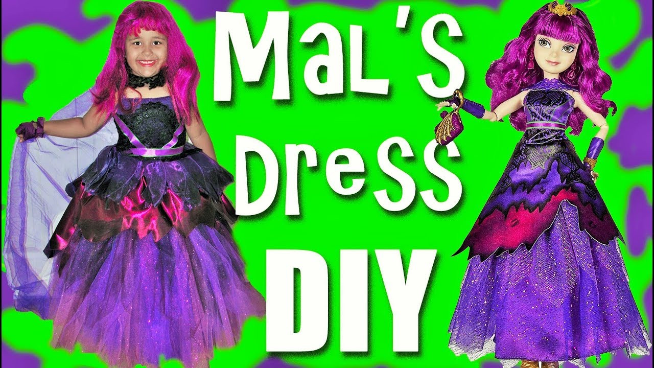 Best ideas about Mal Descendants Costume DIY . Save or Pin Descendants 2 Halloween Costumes Dress Up DIY Mal Dress Now.