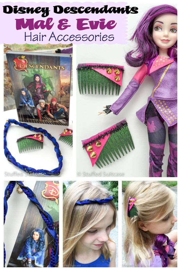 Best ideas about Mal Descendants Costume DIY . Save or Pin DIY Disney Hair Accessories for Descendants Mal and Evie Now.