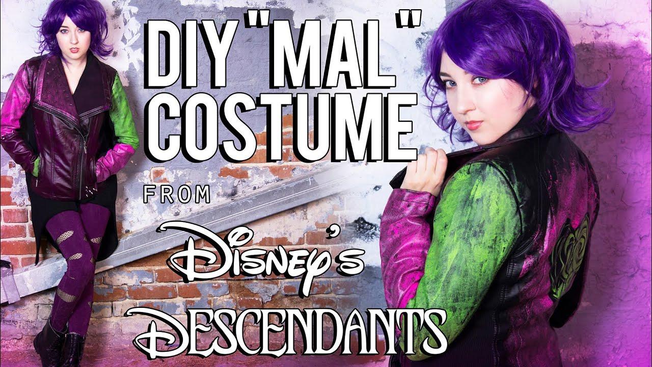 Best ideas about Mal Descendants Costume DIY . Save or Pin Disney Descendants – Mal DIY Costume Tutorial Now.