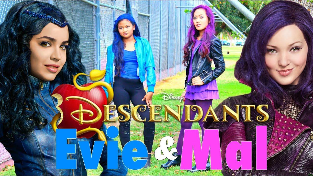 Best ideas about Mal Descendants Costume DIY . Save or Pin DIY Halloween Costumes Disney s Descendants Mal & Evie Now.