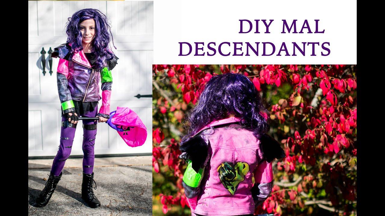 Best ideas about Mal Descendants Costume DIY . Save or Pin Disney Descendants Mal s Costume full DIY tutorial Now.