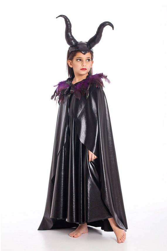 Best ideas about Maleficent DIY Costumes . Save or Pin Maleficent Cape Halloween Costumes Kids Costumes Girls Now.