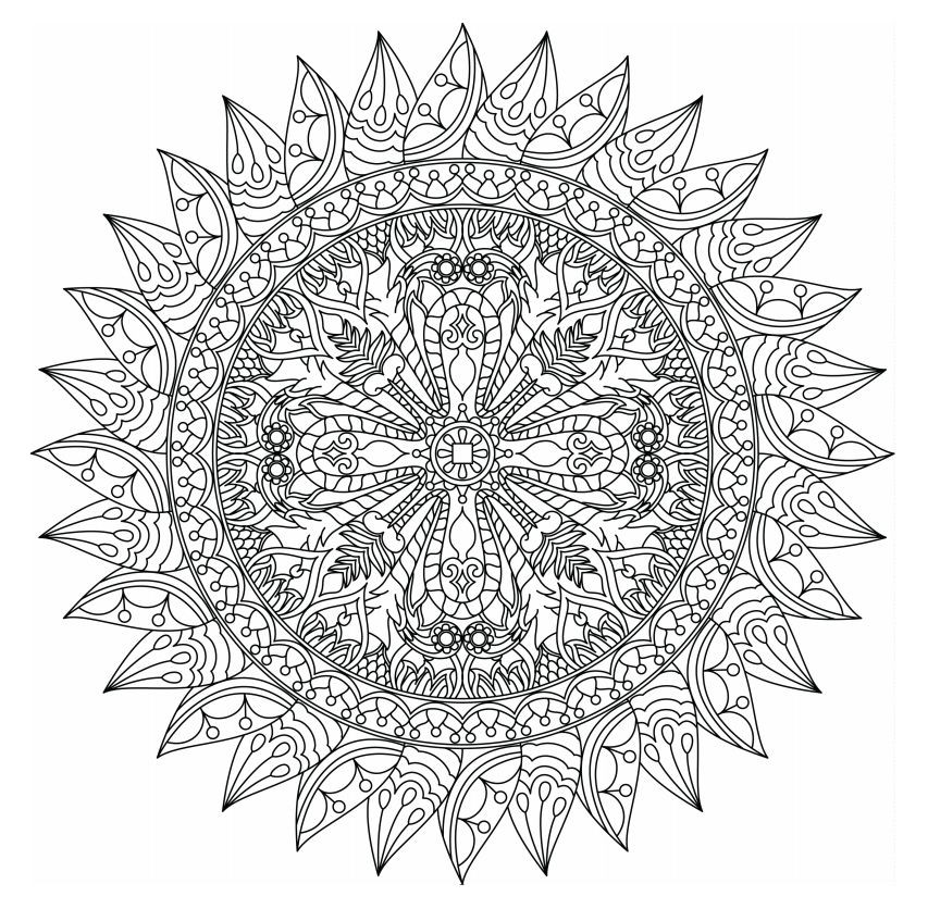 Best ideas about Mandala Adult Coloring Books . Save or Pin 498 Free Mandala Coloring Pages for Adults Now.