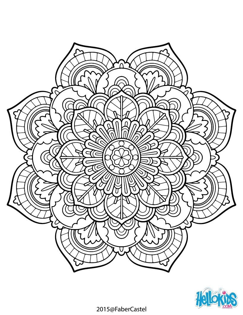 Best ideas about Mandala Adult Coloring Books . Save or Pin Mandala vintage coloring pages Hellokids Now.