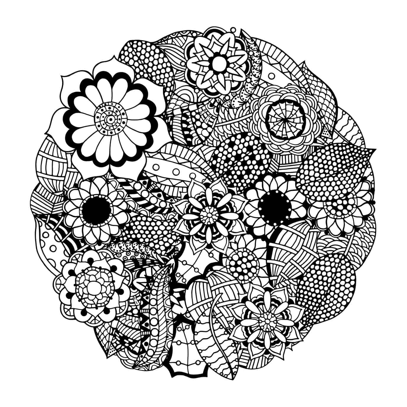 Best ideas about Mandala Adult Coloring Books . Save or Pin These Printable Abstract Coloring Pages Relieve Stress And Now.