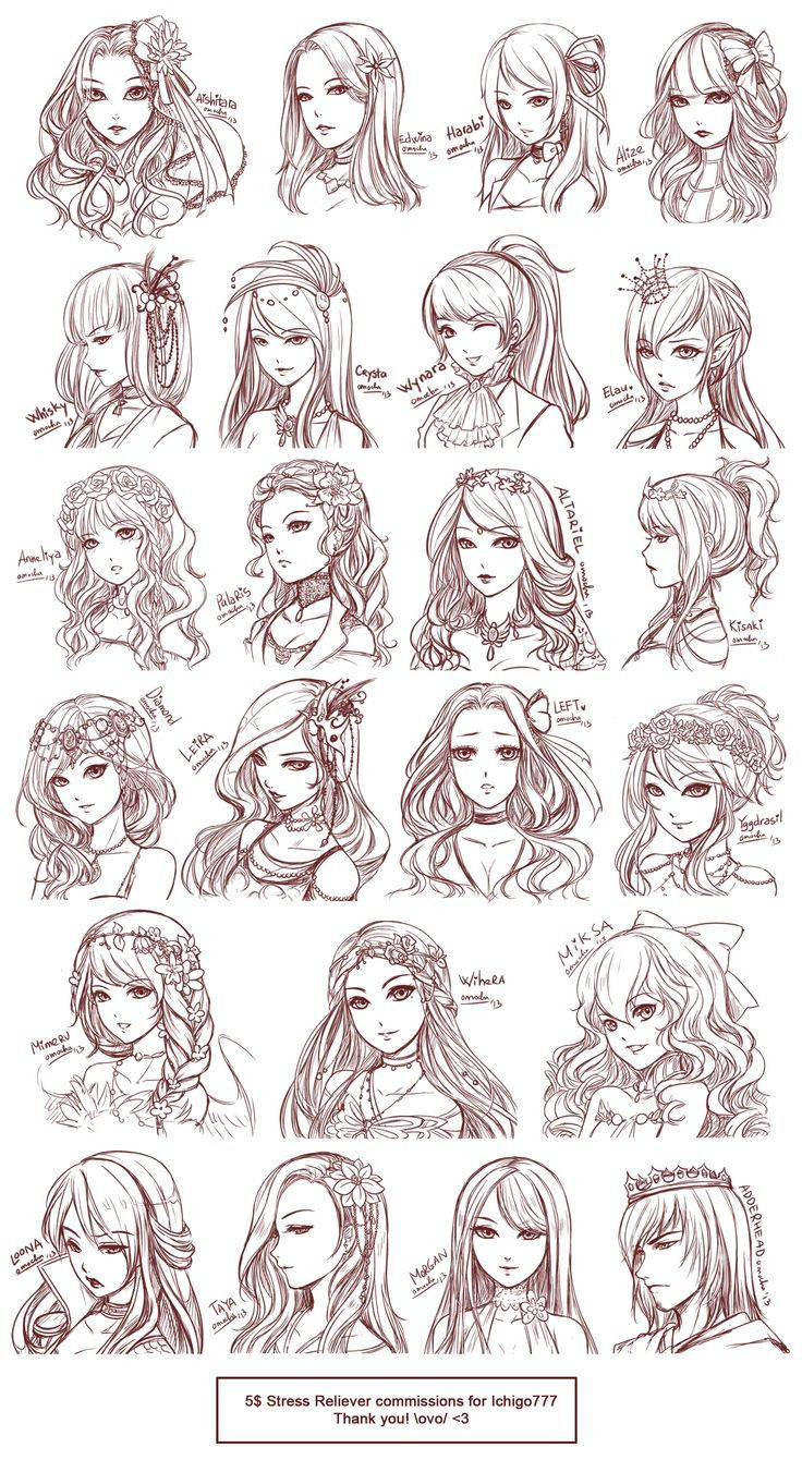 Best ideas about Manga Hairstyles Female . Save or Pin anime hairstyles Now.