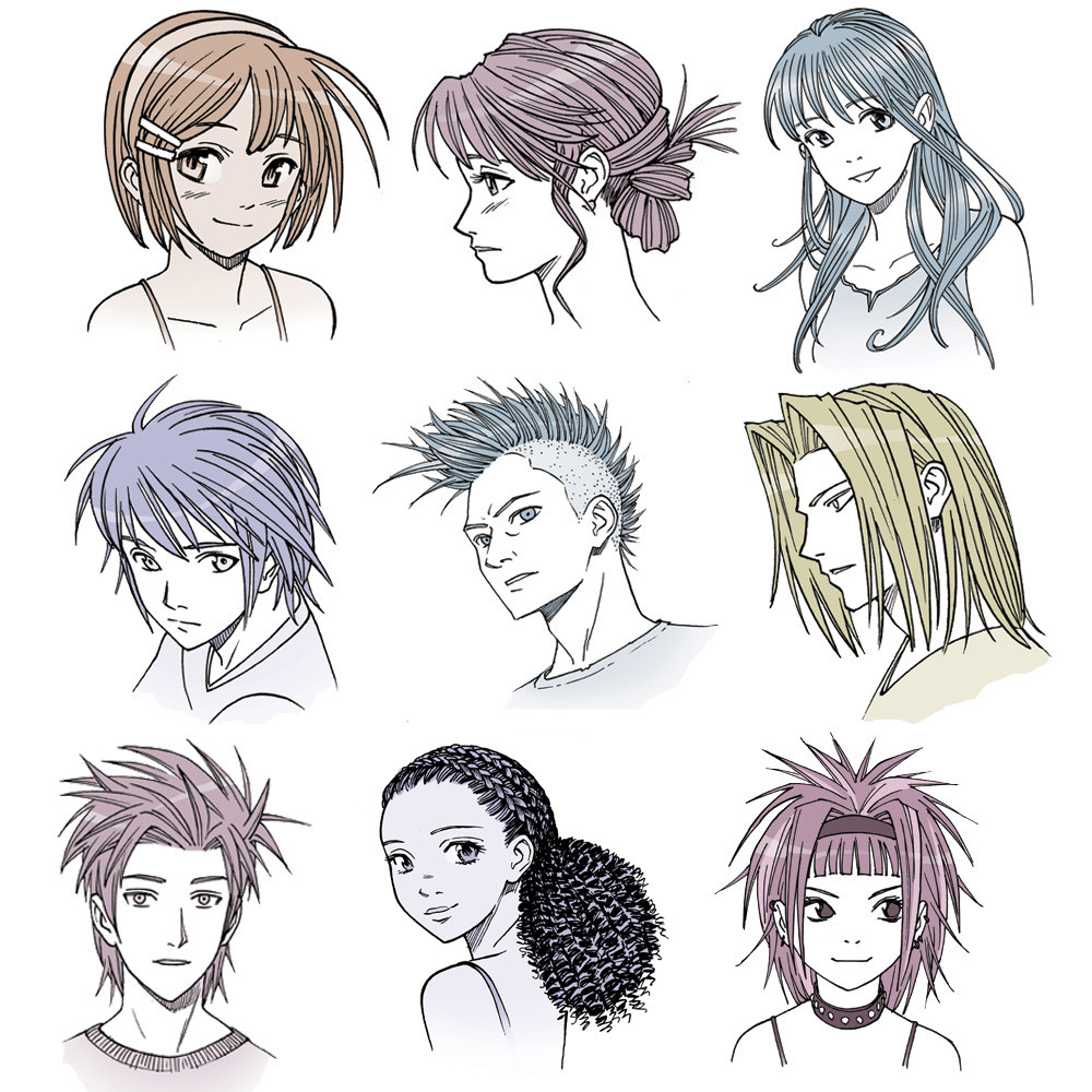 Best ideas about Manga Hairstyles Female . Save or Pin Drawing Anime Hair for Male and Female Characters IMPACT Now.