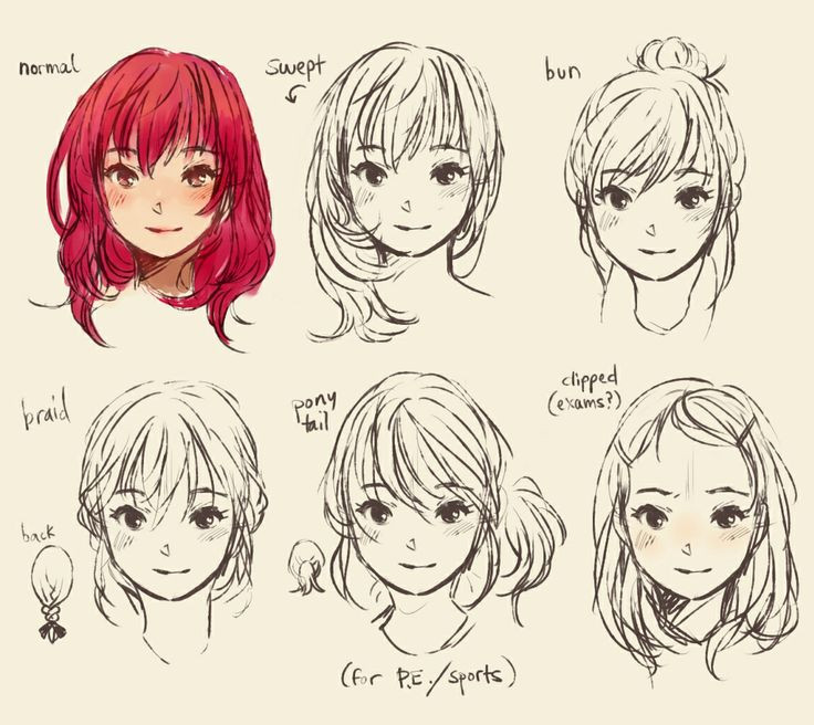 Best ideas about Manga Hairstyles Female . Save or Pin How to draw cute manga hair Drawing Help Now.