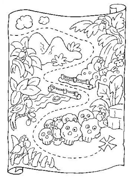 Best ideas about Map Of Wisconsin Preschool Coloring Sheets . Save or Pin Preschool coloring page of treasure map printable Now.