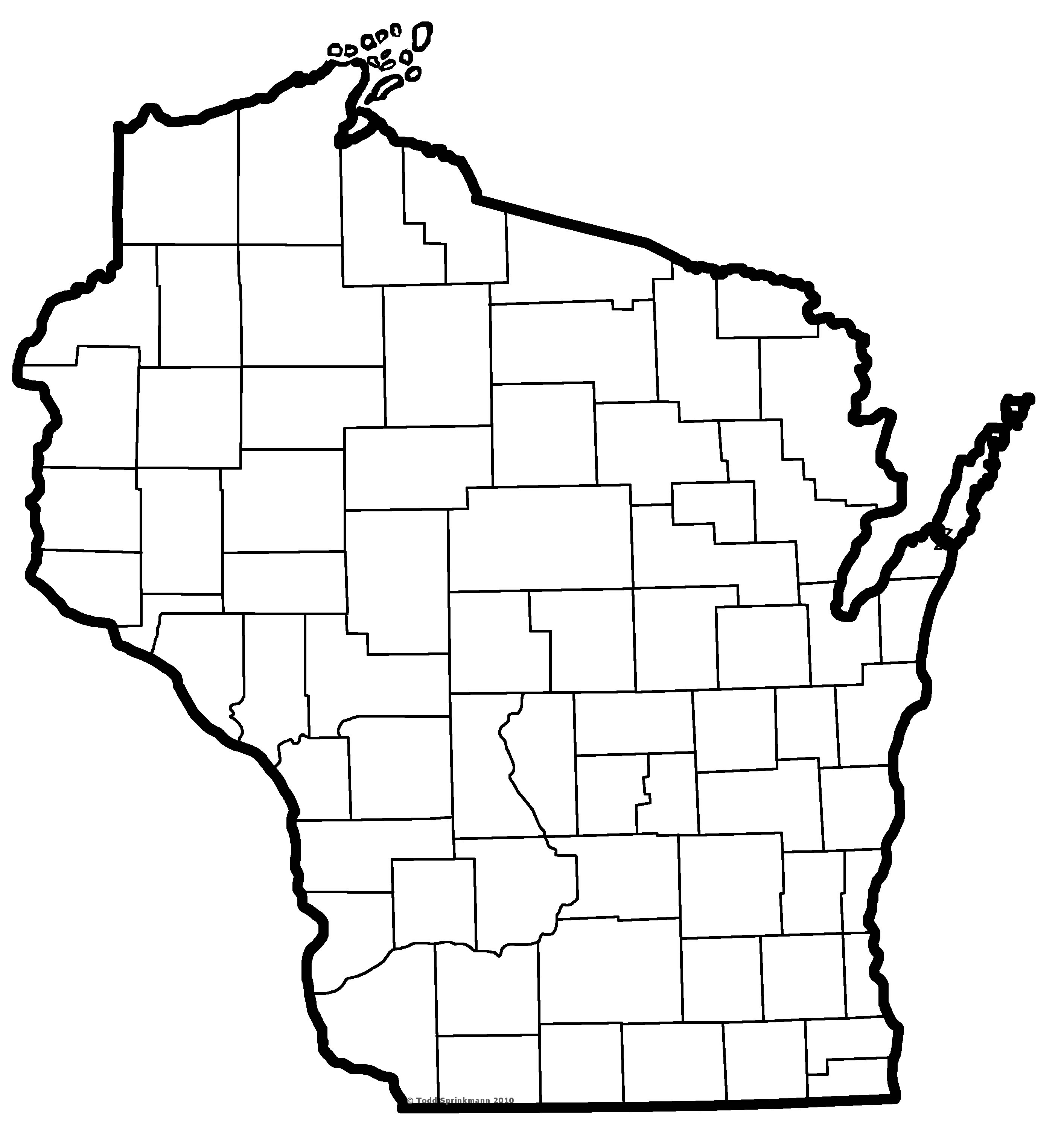 Best ideas about Map Of Wisconsin Preschool Coloring Sheets . Save or Pin Free Wisconsin Outline Download Free Clip Art Free Clip Now.